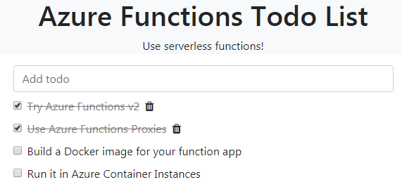 Run Azure Functions in a Docker Container