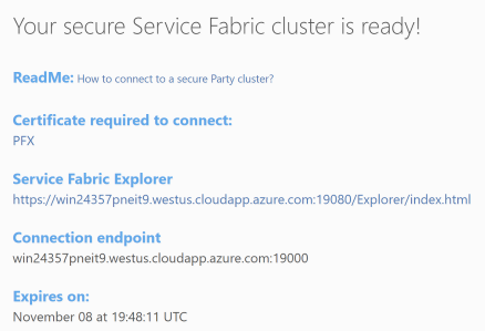 Service Fabric Party Cluster