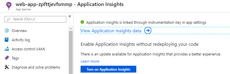 Automating Application Insights extension