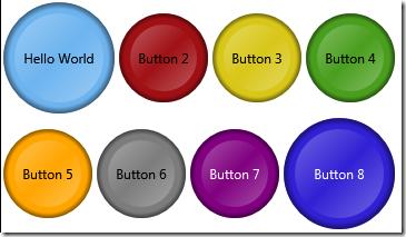 Circular WPF Button Template