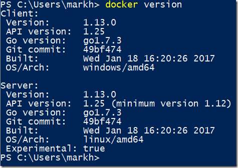 Get Up and Running with Docker for Windows