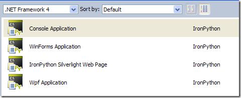 IronPython 2 7 Visual Studio Integration
