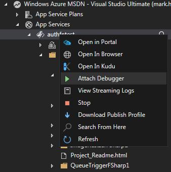 Remote Debugging Azure Functions