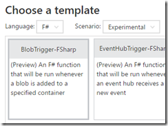 Using Blobs in Azure Functions with F#